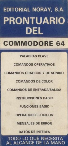 Prontuario del Commodore 64