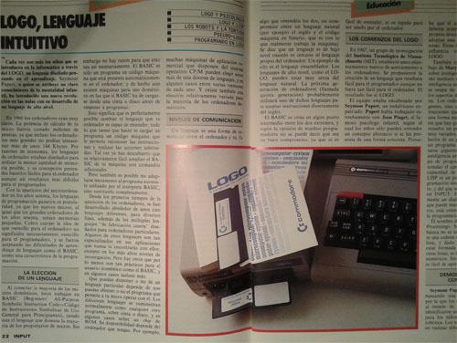 revista input commodore explicando software logo