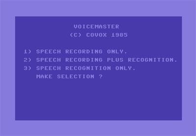 Voice Master funcionando en Commodore 64