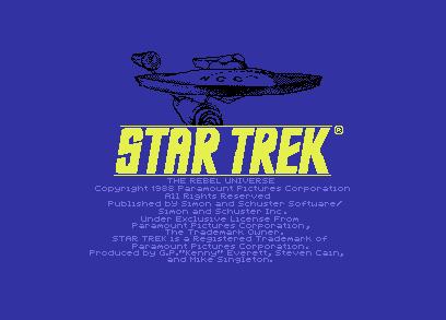 Star Trek Commodore 64