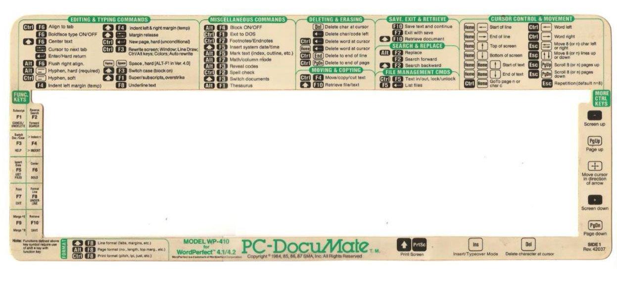 Pc-DocuMate - WordPerfect Modelo WP-410