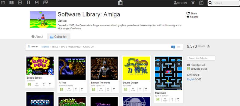 Internet archive - Amiga