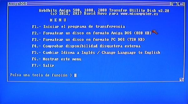Captura pantalla Menu Tranfer utility Disk 3