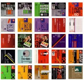 Colección carátulas cassette vírgenes