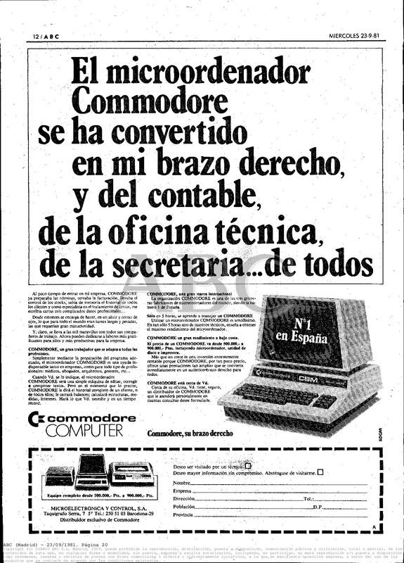 Colección publicidad Commodore – 01