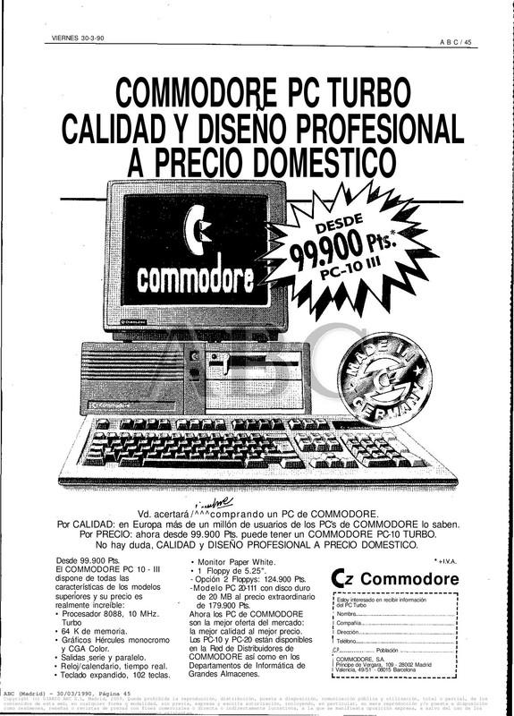 Colección publicidad Commodore – 02