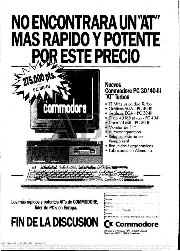 Colección publicidad Commodore – 03