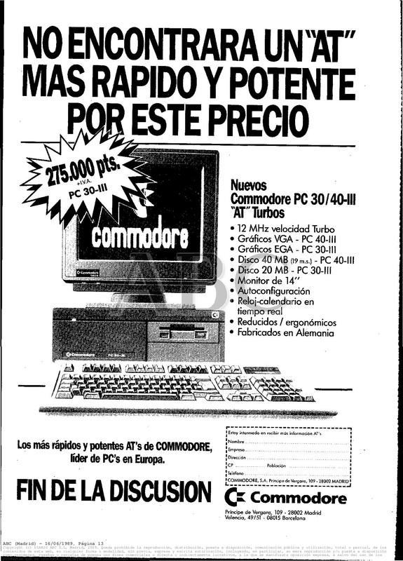 Colección publicidad Commodore – 05