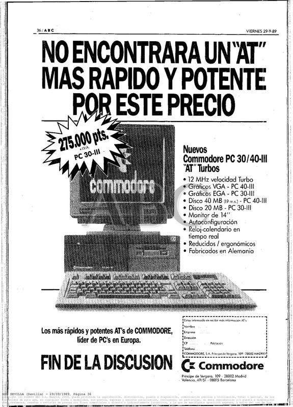 Colección publicidad Commodore – 08
