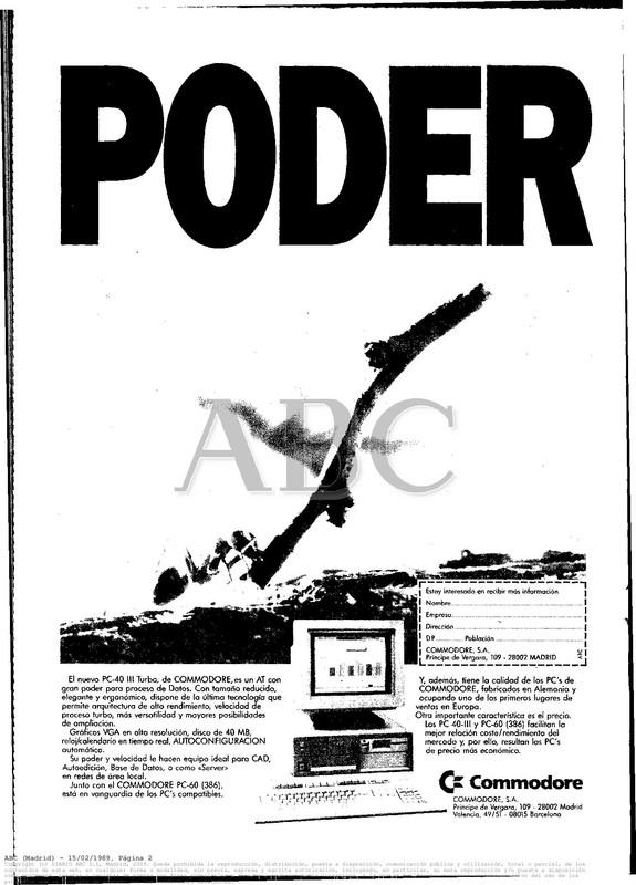 Colección publicidad Commodore – 12