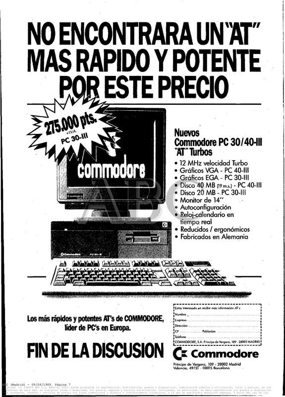 Colección publicidad Commodore – 20