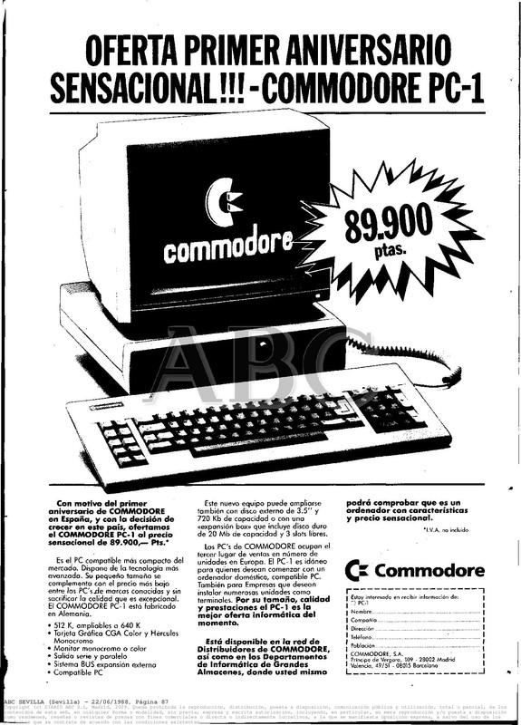Colección publicidad Commodore – 32