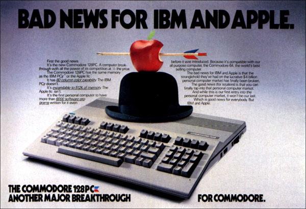 Anuncio del  Commodore 128