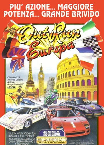Juego original Out Run Europa
