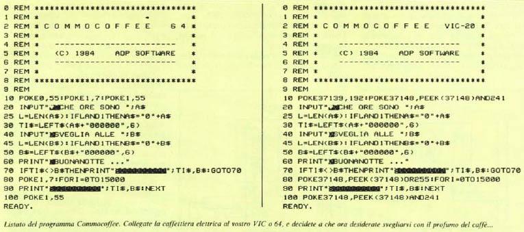 Programación Commocoffe64
