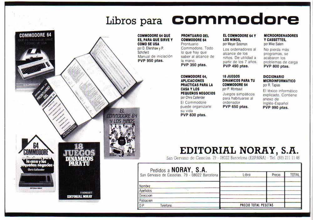 Publicidad Prontuario Commodore 64