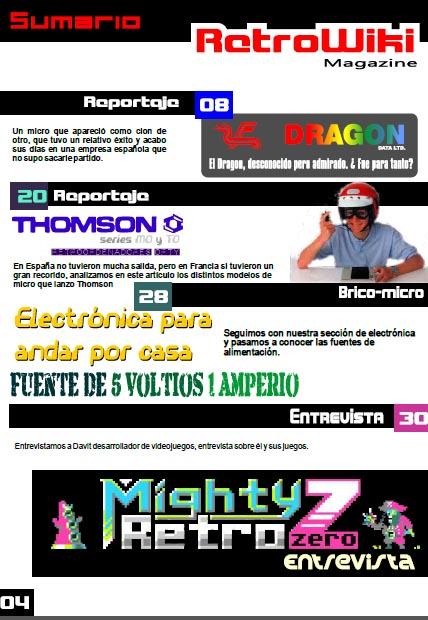 Sumario Retrowiki magazine 10 - 1