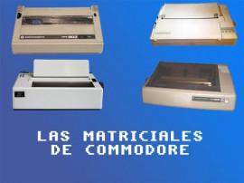 las impresoras matriciales de commodore