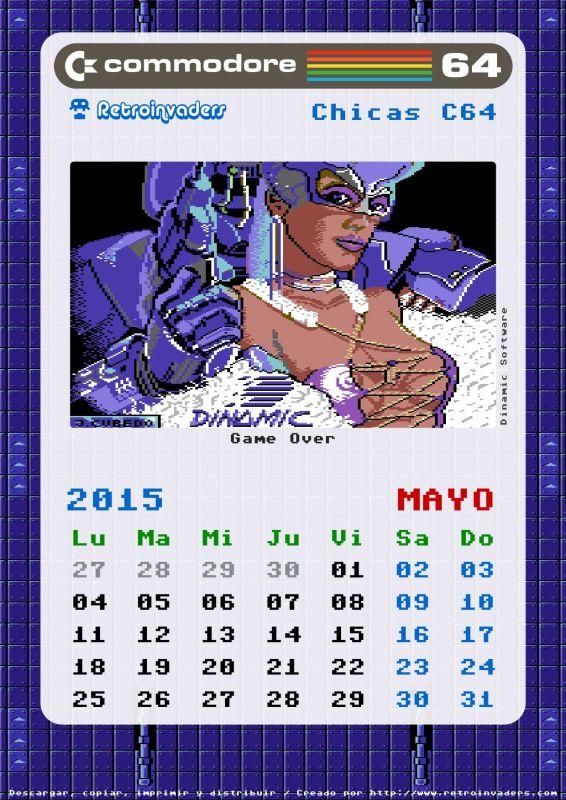 Calendario 2015 chicas commodore