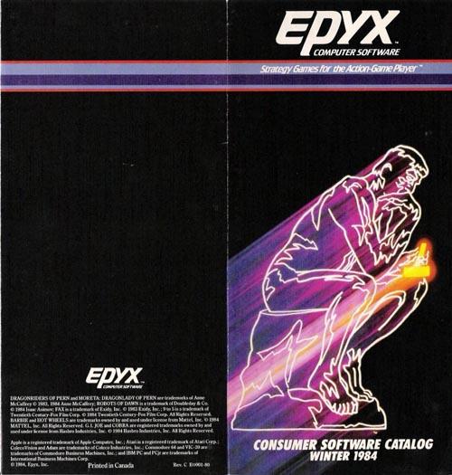 Catálogo Epyx 1984