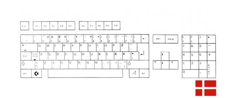 Teclado Danés Amiga 500