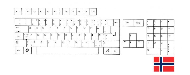 Teclado Noruego Amiga 500