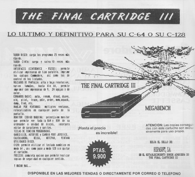 Anuncio The Final Cartridge III – 3