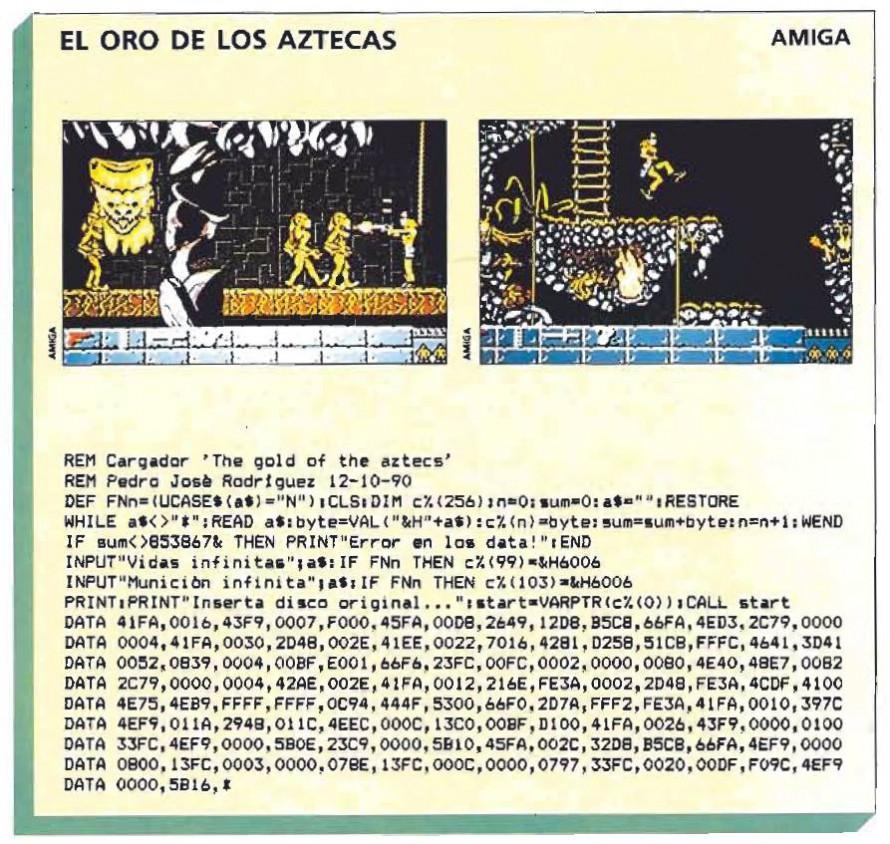 El oro de los Aztecas  – Amiga