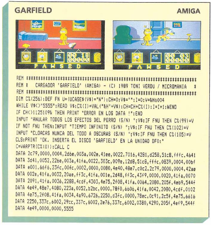 Garfield – Amiga