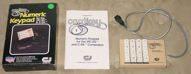 Numeric Keypad - Cardkey for C64 and Vic-20