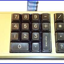 Presentación teclado numérico para commodore64 y vic20