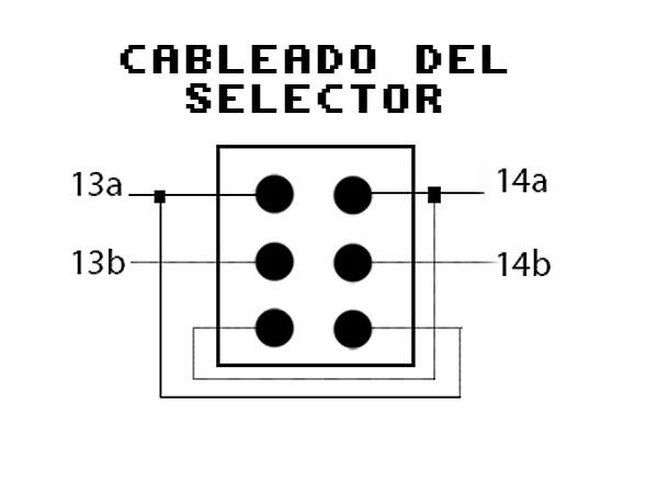 Cableado selector para DF0 DF1