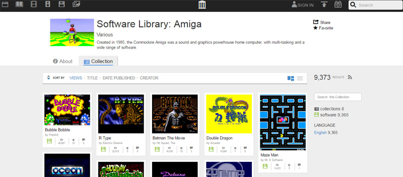 Internet archive - Amiga