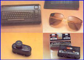Presentación accesorios gadgets de trabajo para el commodore