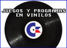 Presentación juegos y programas en vinilos