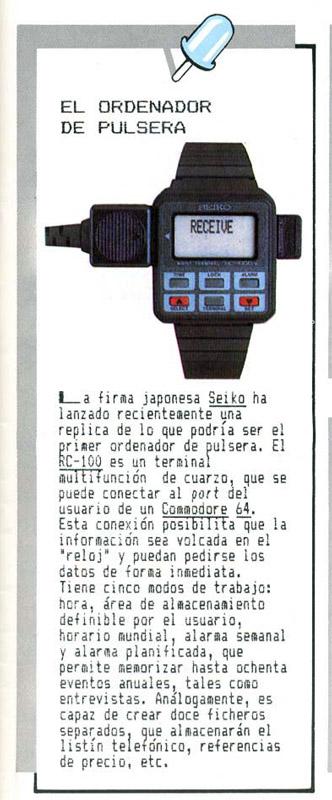 Seiko RC1000 – Anuncio 5 (Input Commodore)