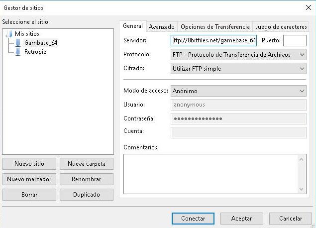Conexión FTP juegos Gamebase64-1