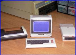Presentación recortables retro informática commodore