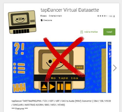 """La App """"TapDancer""""  ya no está en Google Play #Commodore Spain"""