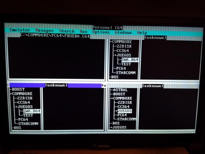 Aplicaciones Commodore bajo Msdos (3)
