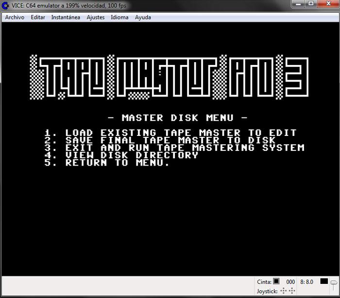 Empaquetado Tape Master – 00
