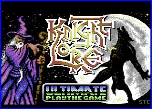 Presentación Knight lore c64