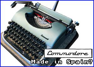 presentacion maquina escribir española commodore