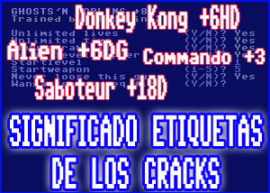 Plantilla significado etiquetas cracks commodore